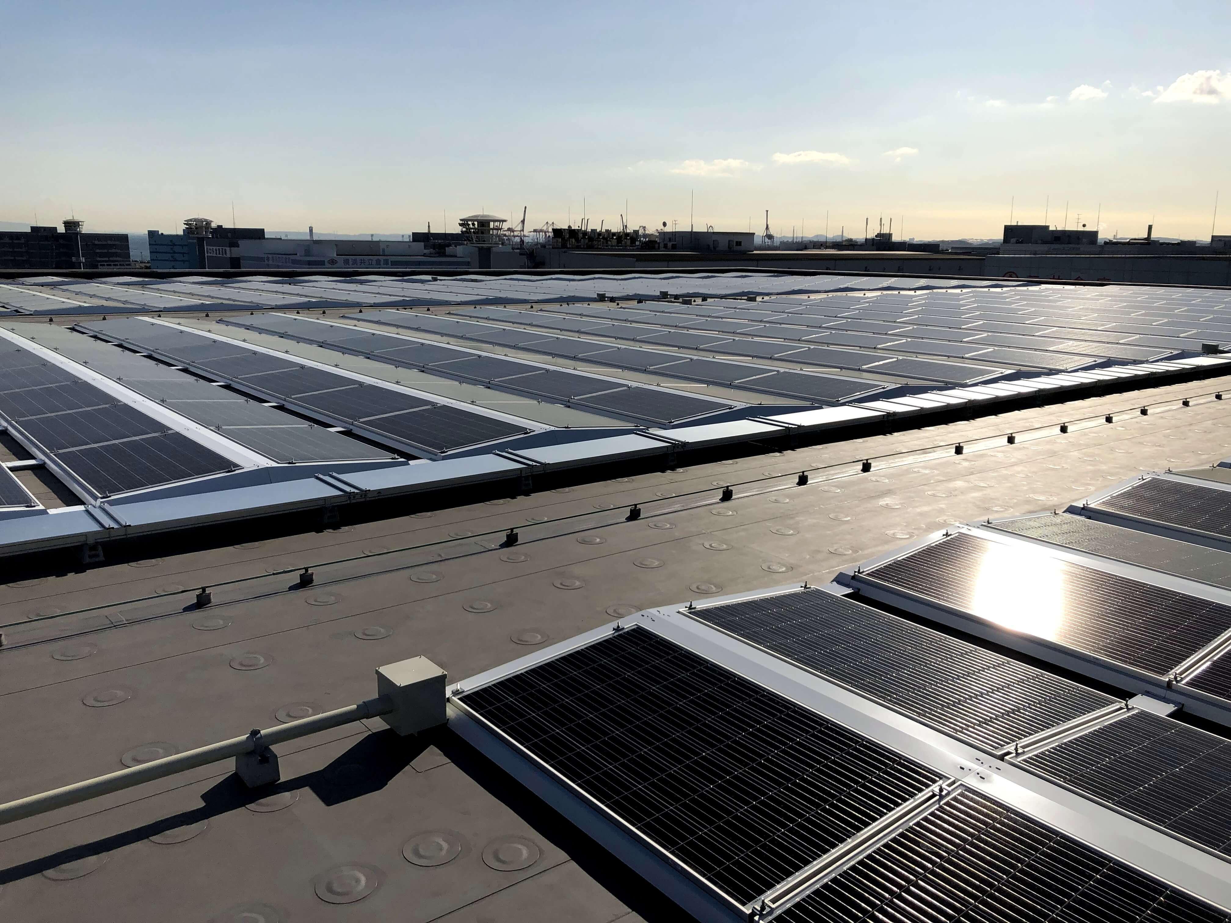 神奈川県某物流倉庫太陽光発電